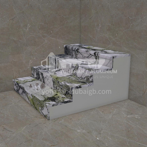 Natural white modern luxury marble staircase M-LC20C