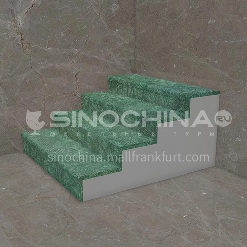 Natural green classic marble staircase M-YA82L