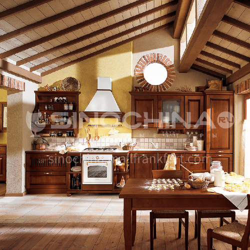 American style classical PVC with HDF kitchen GK-518