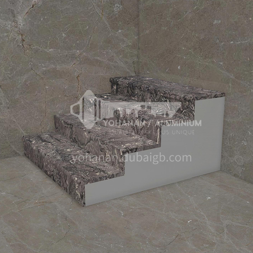 Natural purple wood texture marble staircase M-FB90C