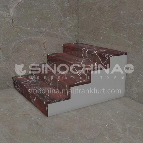 Natural purple light luxury marble staircase M-ZA89H