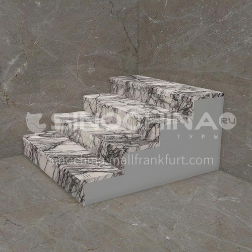 Natural white modern light luxury marble staircase M-XB05M