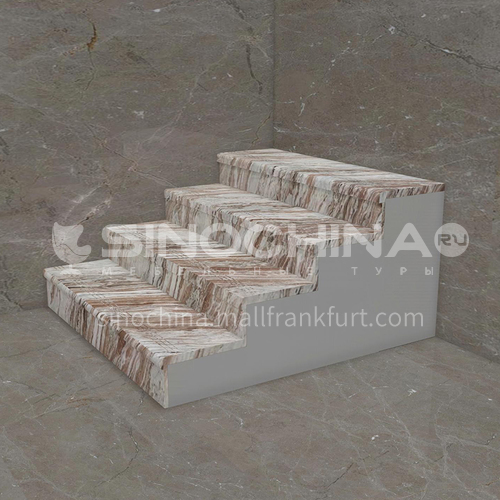 Natural purple wood texture marble staircase M-ZA93L