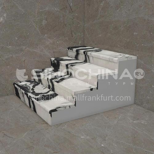Natural white modern light luxury marble staircase M-XB67B