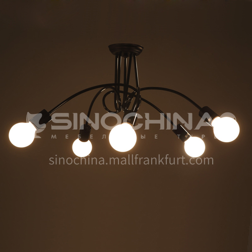 American creative living room bedroom dining hall aisle lamps retro simple coffee shop ceiling lamp 8 ceiling chandelier WYN-9015