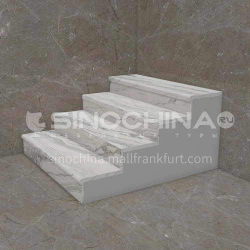 Natural white hot-selling luxury marble staircase M-XB97B