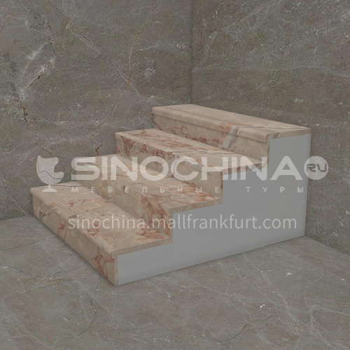 Natural red light luxury marble staircase M-HA30Z