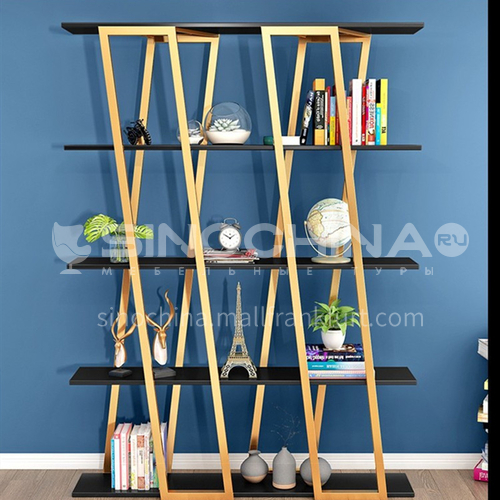 Steel Luxury X- shape Bookshelf Rack