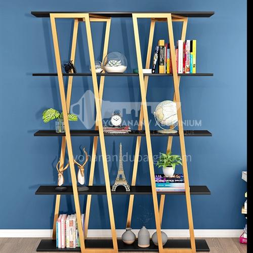 Steel Luxury X- shape Bookshelf Rack