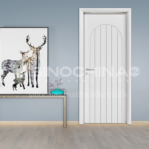 2020 new modern wood door designs oak solid wood door  hotel villa room door  16