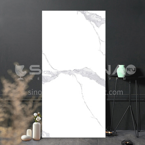 Full body marble villa living room TV background wall slab-WLKJL2412B01 1200mm*2400mm