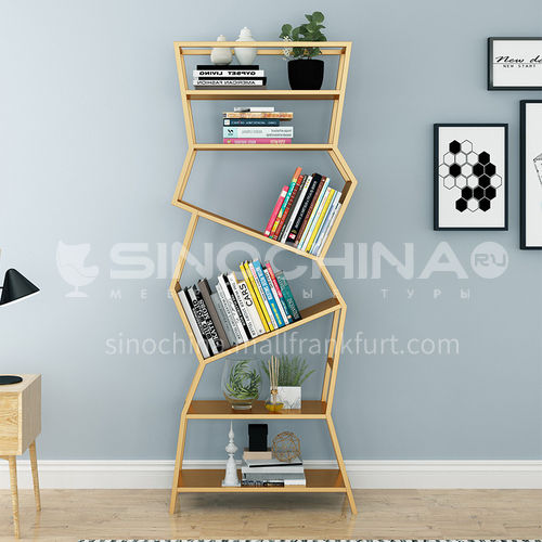 Steel Inclined Fashionable Multilayer Rack Bookshelf