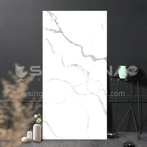 Full body marble villa living room TV background wall slab-WLKJL2412B02 1200mm*2400mm
