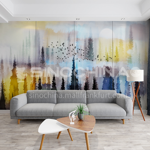 Custom small fresh mural style background wall BGW143