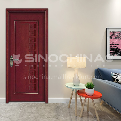 Clear texture flat carved oak wooden door latest minimalist design interior room door toilet wooden door 23