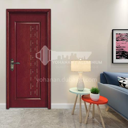 Clear texture flat carved oak wooden door latest minimalist design interior room door toilet wooden door 23