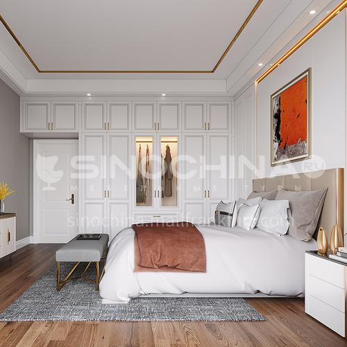 European style wardrobe classical PVC WITH HDF wardrobe-GW-066