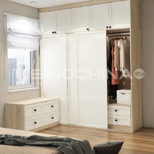European style wardrobe classical PVC WITH HDF wardrobe-GW-075
