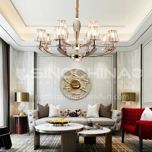 Light luxury crystal chandelier living room simple modern atmosphere dining room lamp MX-9206