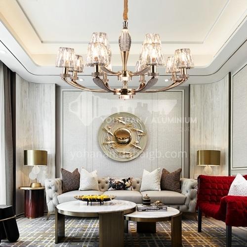 Light luxury crystal chandelier living room simple modern atmosphere dining room lamp MX-9206