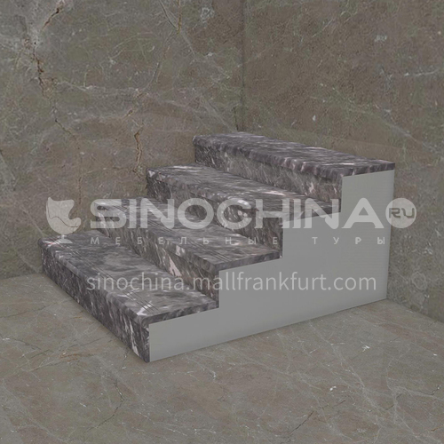 Natural grey hot selling marble staircase M-AA55H