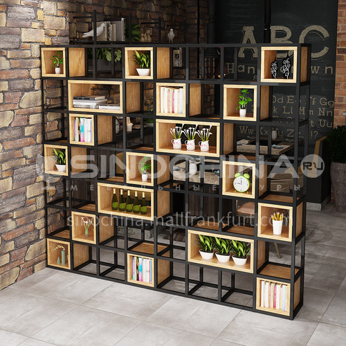 Steel Pipe Welding & Wood Box Rack Bookshelf