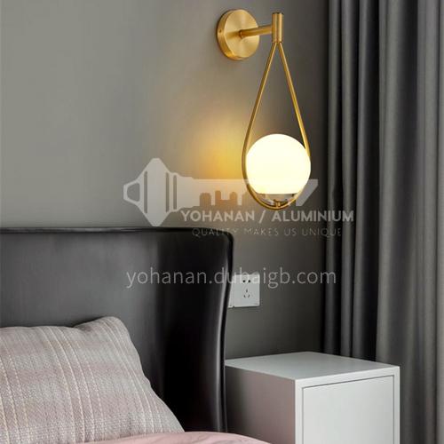 Bedside wall lamp bedroom creative modern minimalist wall lamp Nordic living room wall lamp-YDH-7112