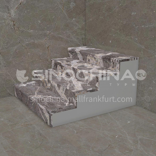 Natural grey modern marble staircase M-BA22H