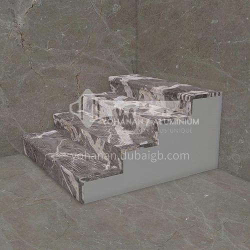 Natural grey modern marble staircase M-BA22H