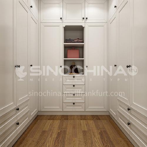 European style wardrobe classical PVC WITH HDF wardrobe-GW-101