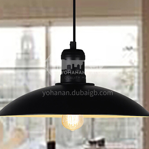 American country loft retro industrial style lampshade restaurant creative cafe wrought iron single head shape pot lid chandelier WYN8120-D1