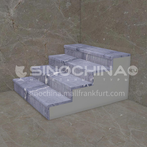 Natural grey modern hot selling marble staircase M-GA01H