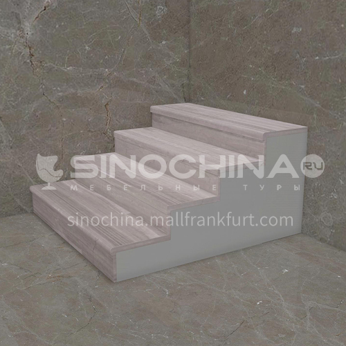 Natural gray modern wood grain marble staircase M-H090W