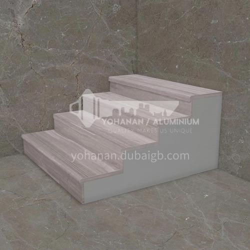 Natural gray modern wood grain marble staircase M-H090W