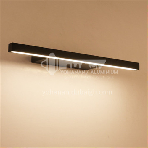 Black mirror front lamp simple mural room wall lamp bathroom waterproof and anti-fog aluminum bathroom lamp-JS-7040