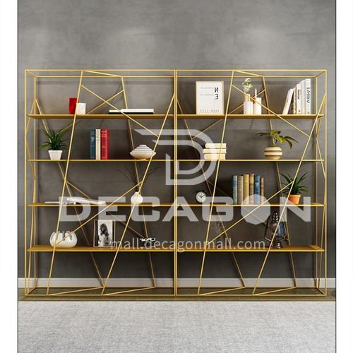 360° Surround Irregular Steel Lines Bookshelf