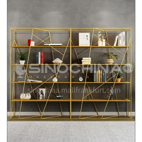 360° Surround Irregular Steel Lines Bookshelf