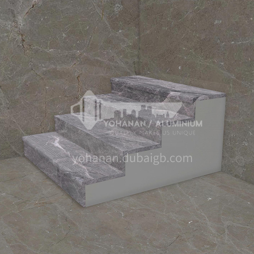 Natural grey light luxury marble staircase M-TA07Q