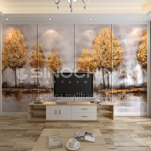 Customized 3D Tree design Background Wall BGW162
