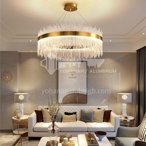 Crystal Modern Light Luxury Living Room Chandelier Luxury Creative Round Metal Chandelier-GLD-6601