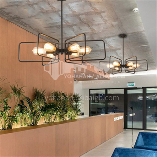 American country retro nostalgic industrial style lamps loft creative personality dining room small living room bedroom iron chandelier WYN-8866-D6