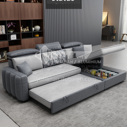 HS-H63 Folding Sofa Bed Sitting and Sleeping Small Apartment Living Room Sleeping Sofa Multifunctional Chaise Small Sofa Net Red