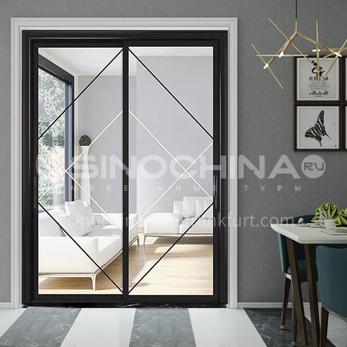 2.0mm narrow side aluminum alloy sliding door with craft glass6