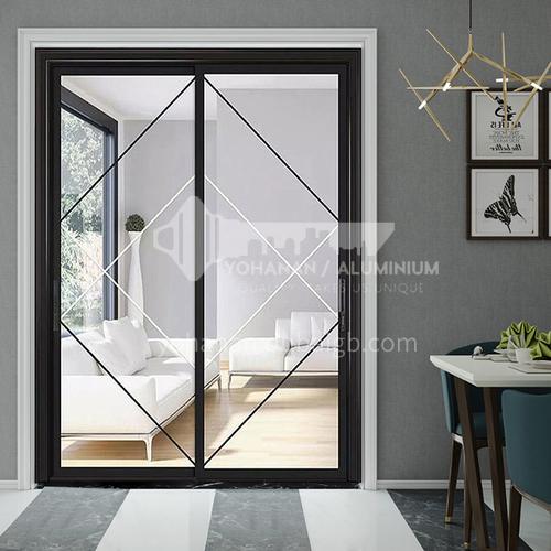 2.0mm narrow side aluminum alloy sliding door with craft glass6