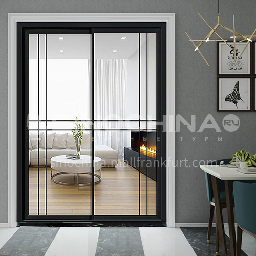 2.0mm narrow side aluminum alloy sliding door with double tempered glass8