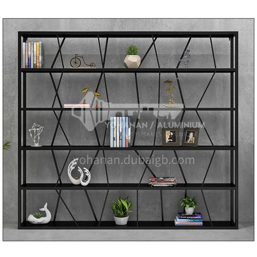 Steel Irregular staggered Black Rack Bookshelf