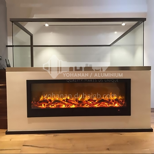 Moroni electric fireplace with heating thickened cold-rolled steel plate material closed on three sides DQ000443 YN-1500