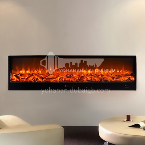 Moroni Electric Fireplace DQ000449 with heating black cold-rolled steel sheet trimmed edge trimmed three sides YN-2000