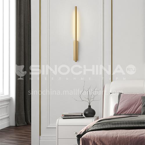 Light luxury minimalist line wall lamp hotel living room bedroom bedside wall lamp aisle simple modern decorative wall lamp-YDH-7001