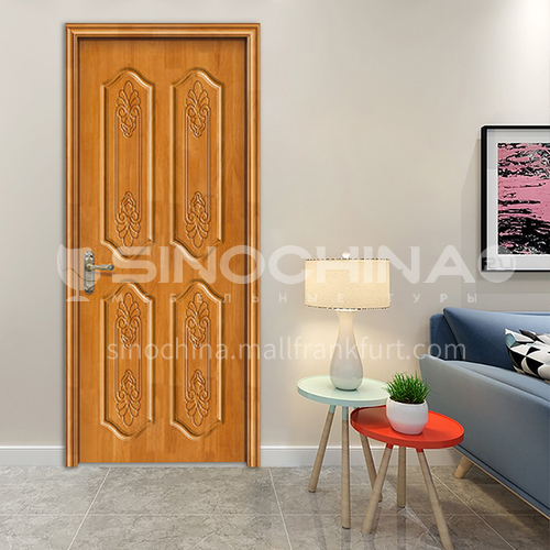Classical style oak solid wood door for the room door swings for home french for villa 53